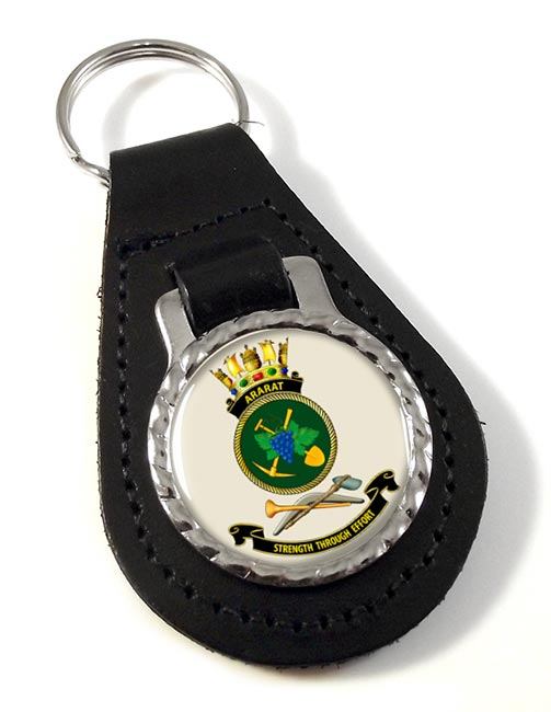 HMAS Ararat Leather Key Fob