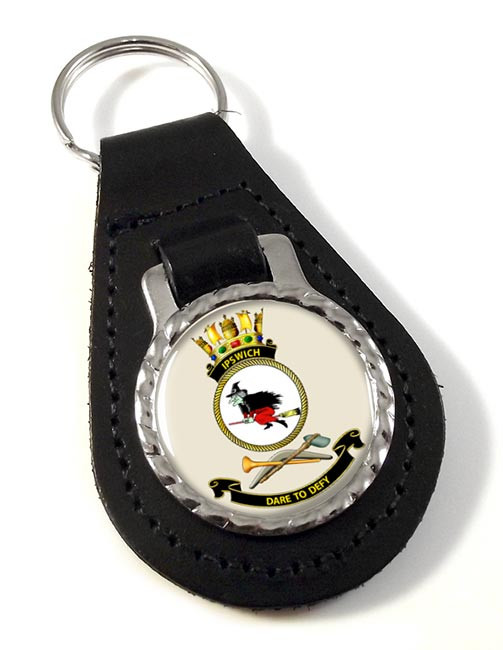HMAS Ipswich Leather Key Fob