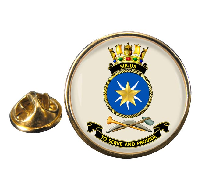 HMAS Sirius Round Pin Badge