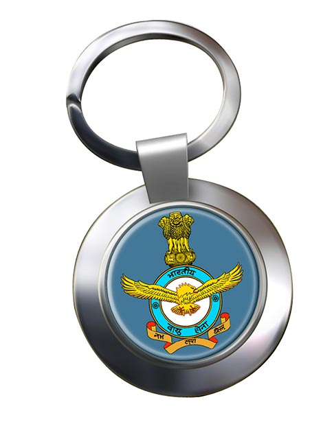 Indian Air Force Chrome Key Ring
