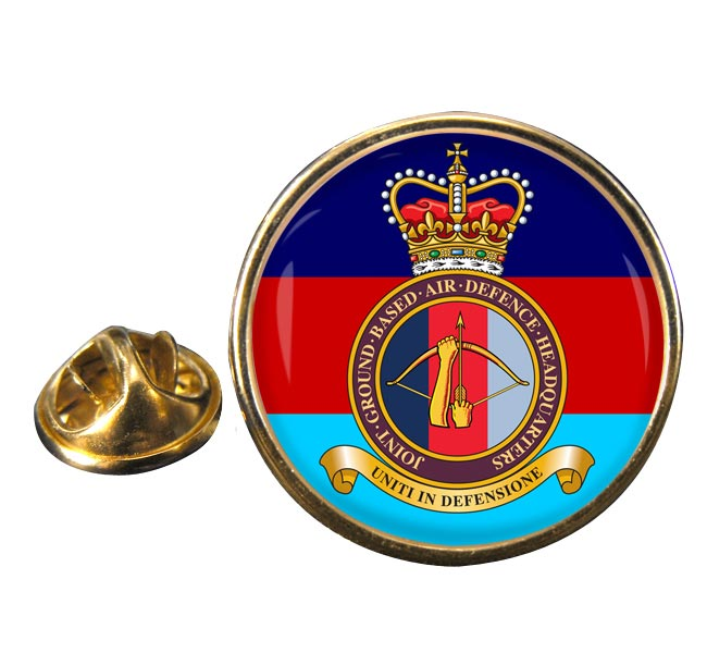 Joint Ground Based Air Defence Headquarters Round Pin Badge