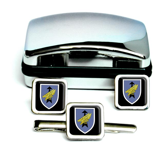 German Special Forces (Kommando Spezialkräfte)  Square Cufflink and Tie Clip Set