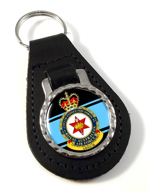 22 Squadron RAAF Leather Key Fob