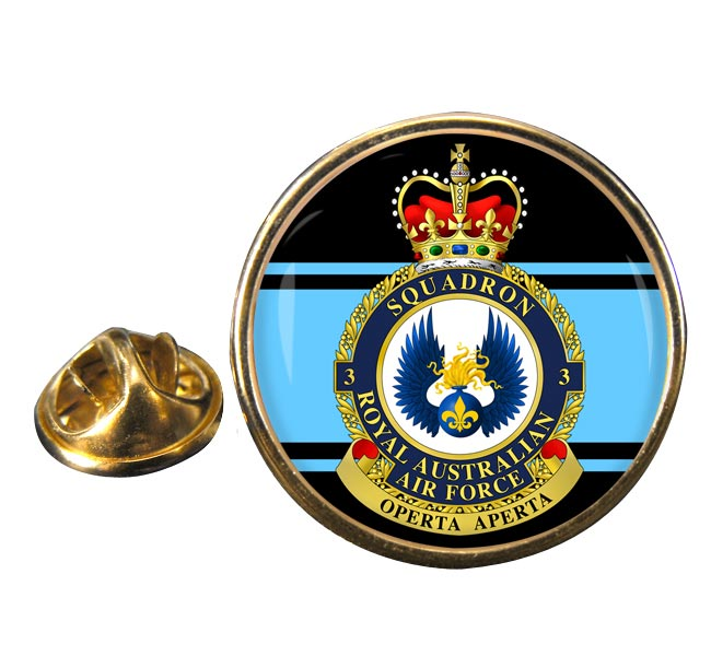 3 Squadron RAAF Round Pin Badge