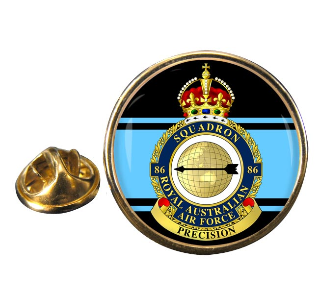 86 Squadron RAAF Round Pin Badge