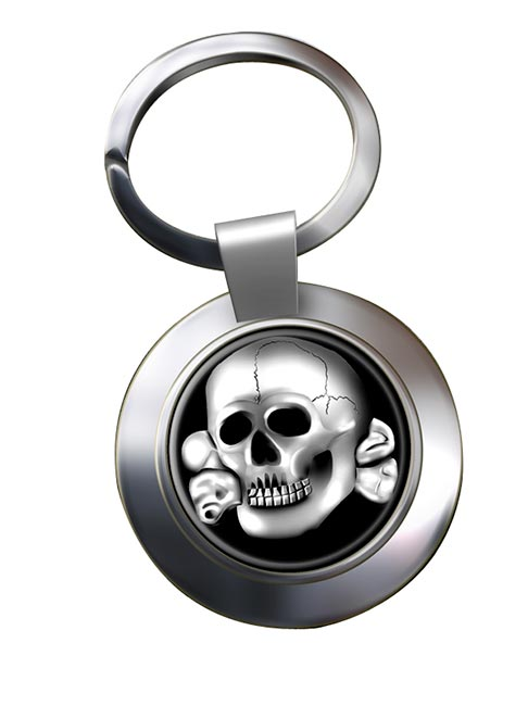 SS-Totenkopfverbände Chrome Key Ring