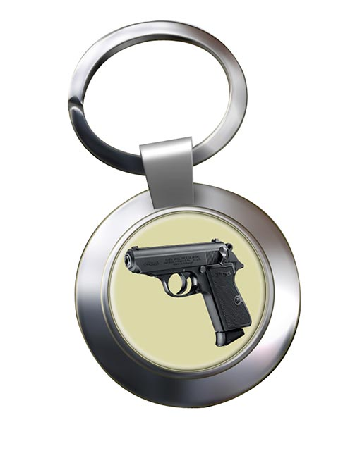 Walther PPK Chrome Key Ring