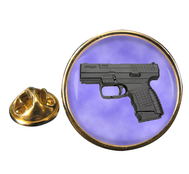 Walther PPS Pistol Round Pin Badge