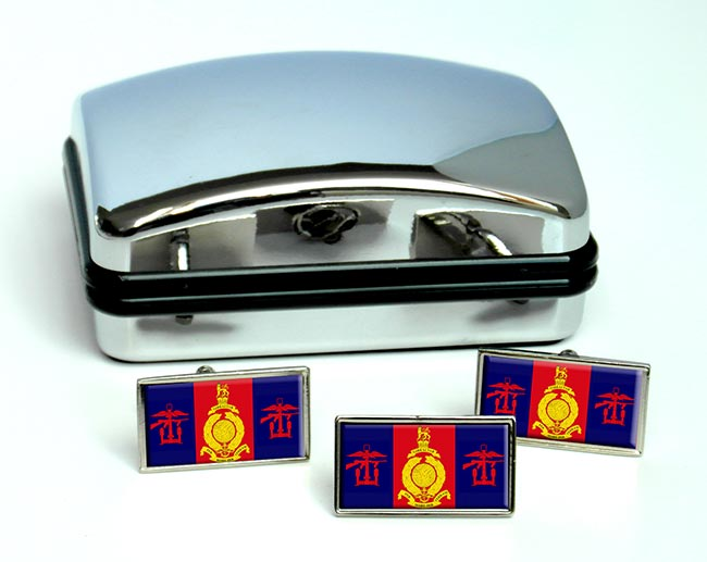 Amphibious Trials and Training Unit (Royal Marines) Rectangle Cufflink and Tie Pin Set