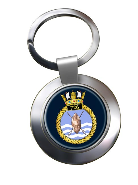 726 Naval Air Squadron Chrome Key Ring