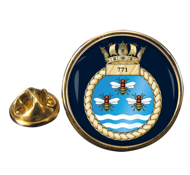 771 Naval Air Squadron  Round Pin Badge