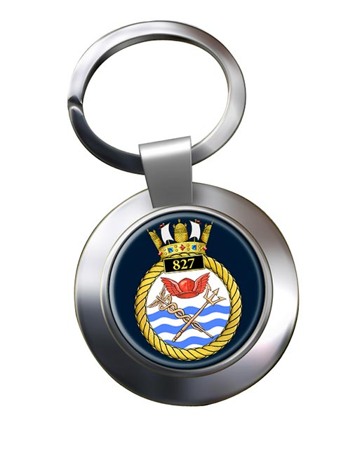 827 Naval Air Squadron (Royal Navy) Chrome Key Ring