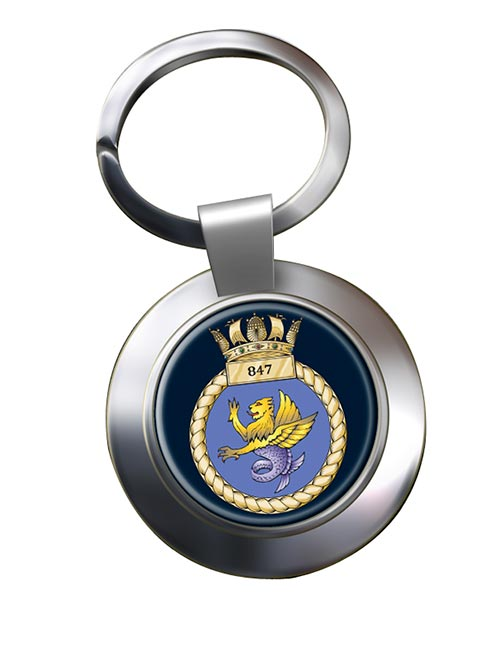 847 Naval Air Squadron (Royal Navy) Chrome Key Ring