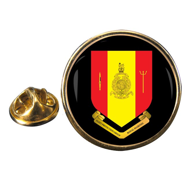 Fleet Protection Group Royal Marines Round Pin Badge
