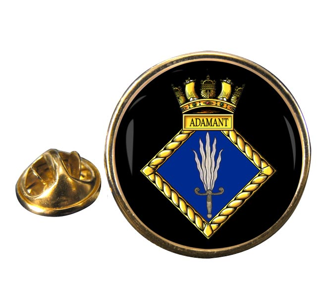 HMS Adamant (Royal Navy) Round Pin Badge