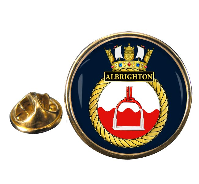 HMS Albrighton (Royal Navy) Round Pin Badge