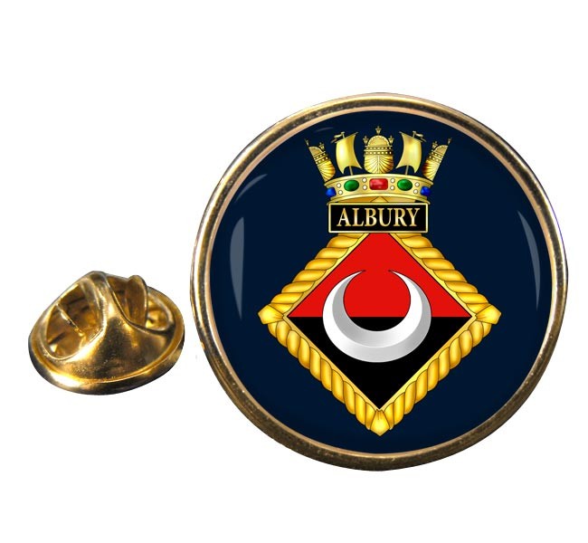 HMS Albury (Royal Navy) Round Pin Badge