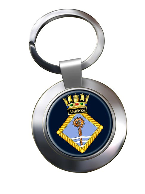 HMS Ambrose (Royal Navy) Chrome Key Ring