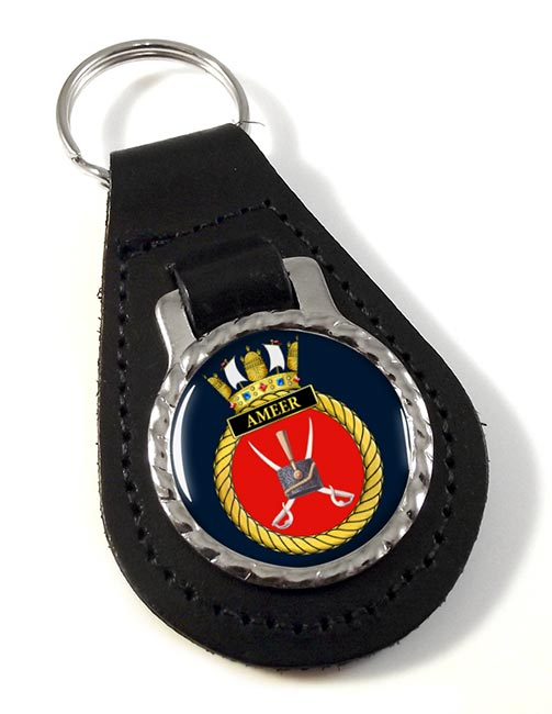 HMS Ameer (Royal Navy) Leather Key Fob