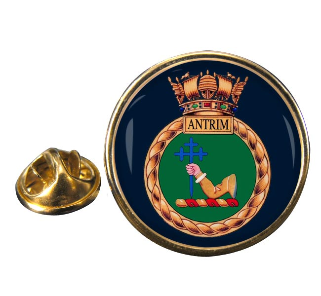 HMS Antrim (Royal Navy) Round Pin Badge
