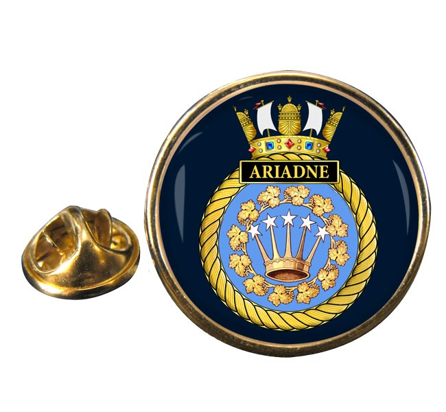 HMS Ariadne (Royal Navy) Round Pin Badge