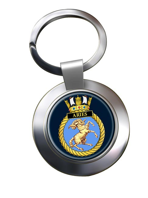HMS Aries (Royal Navy) Chrome Key Ring