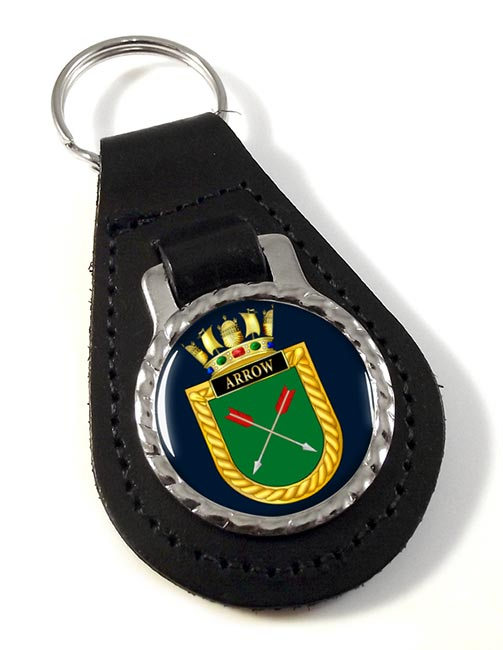 HMS Arrow (Royal Navy) Leather Key Fob