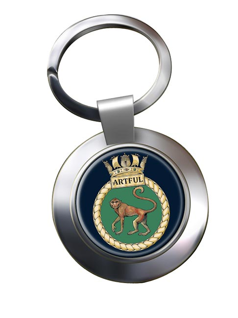 HMS Artful (Royal Navy) Chrome Key Ring