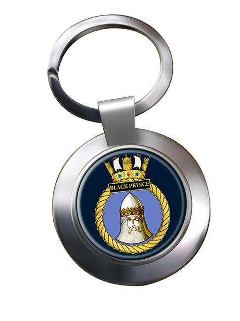 HMS Black Prince (Royal Navy) Chrome Key Ring