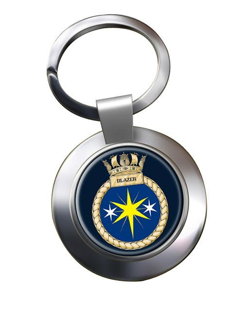 HMS Blazer (Royal Navy) Chrome Key Ring