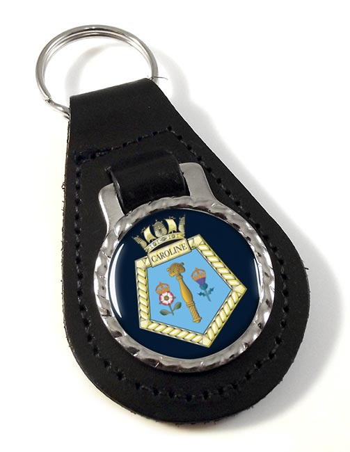 HMS Caroline (Royal Navy) Leather Key Fob