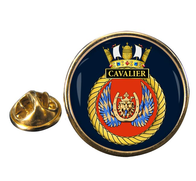 HMS Cavalier (Royal Navy) Round Pin Badge