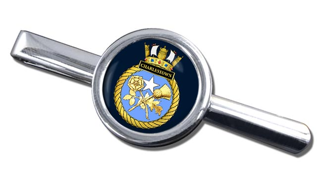 HMS Charlestown (Royal Navy) Round Tie Clip