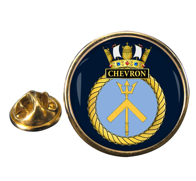 HMS Chevron (Royal Navy) Round Pin Badge