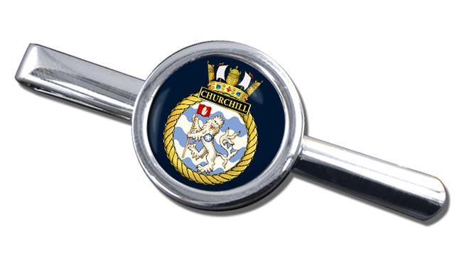 HMS Churchill (Royal Navy) Round Tie Clip