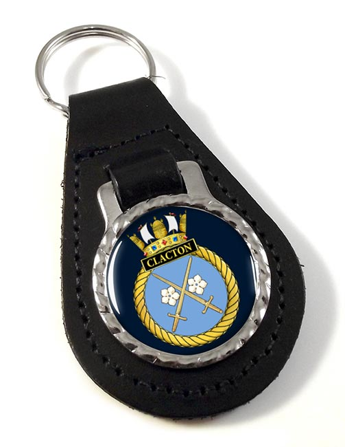 HMS Clacton (Royal Navy) Leather Key Fob