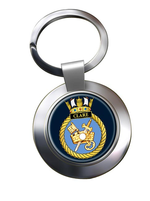 HMS Clare (Royal Navy) Chrome Key Ring