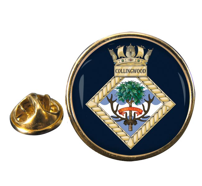 HMS Collingwood (Shore est) (Royal Navy) Round Pin Badge
