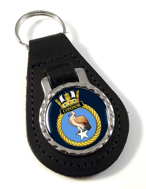 HMS Condor (Royal Navy) Leather Key Fob