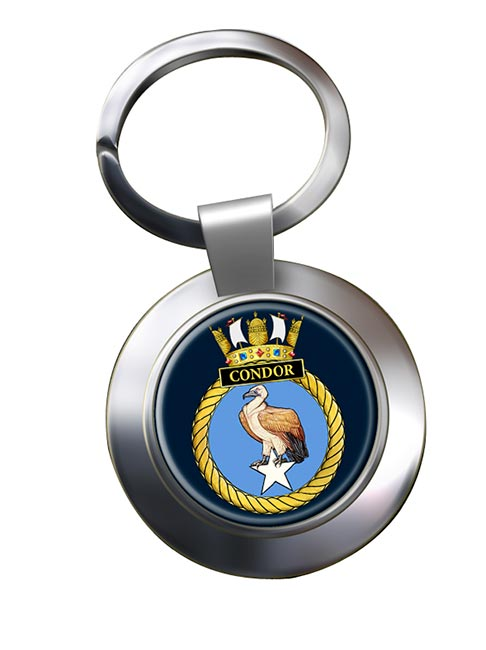 HMS Condor (Royal Navy) Chrome Key Ring