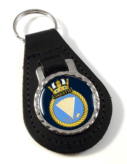 HMS Coquette (Royal Navy) Leather Key Fob