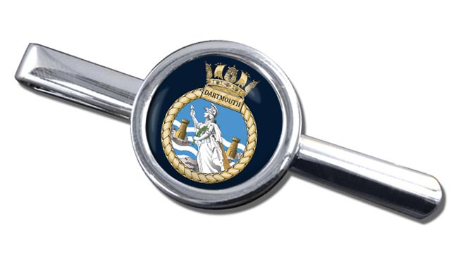 HMS Dartmouth (Royal Navy) Round Tie Clip