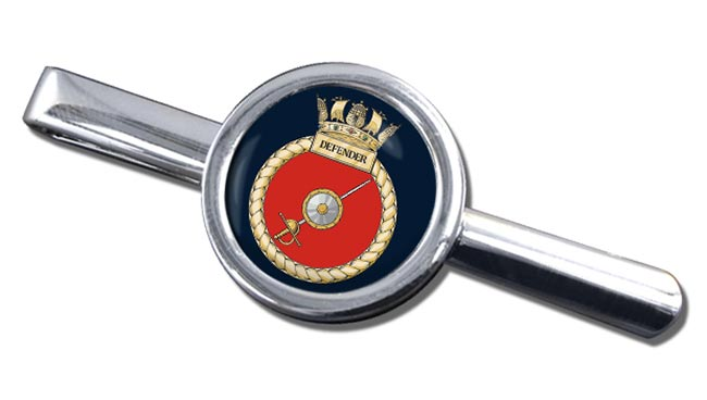 HMS Defender (Royal Navy) Round Tie Clip