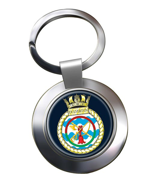 HMS Dulverton (Royal Navy) Chrome Key Ring