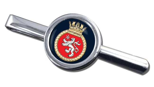 HMS Enterprise (Royal Navy) Round Tie Clip