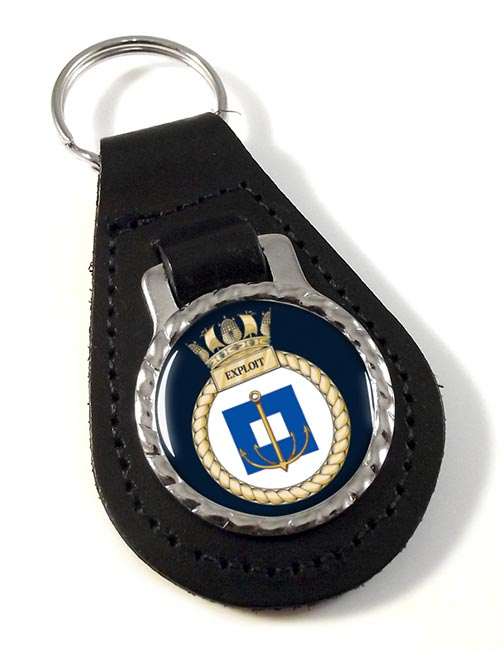 HMS Exploit (Royal Navy) Leather Key Fob