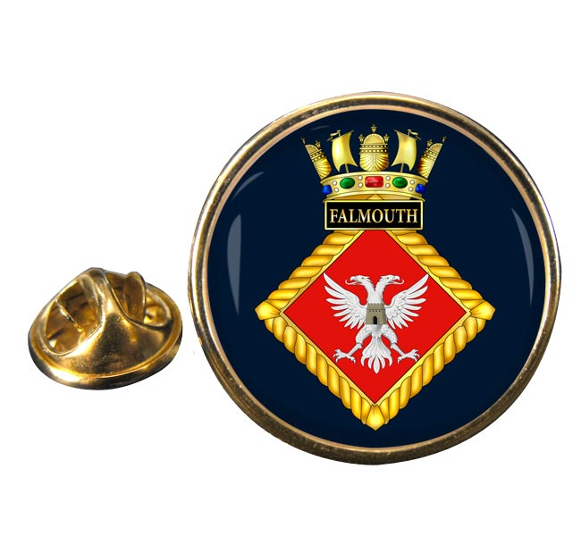 HMS Falmouth (Royal Navy) Round Pin Badge