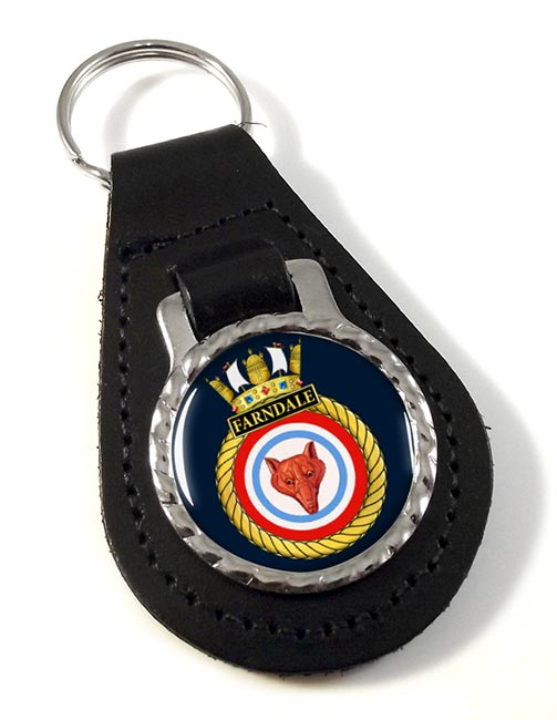 HMS Farndale (Royal Navy) Leather Key Fob