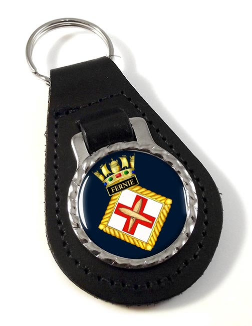 HMS Fernie (Royal Navy) Leather Key Fob