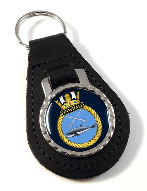 HMS Finwhale (Royal Navy) Leather Key Fob